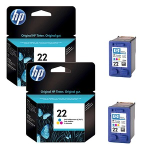 AKTION: 2 HP 22 (C9352AE) color Tintenpatronen