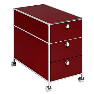 viasit System4 Rollcontainer rot 3 Auszüge