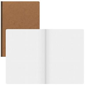 plus Brunnen A6 Notizbuch Geschäftsbuch braun FACT 96 Blatt  DOT 104366370