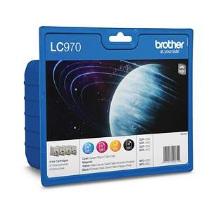 4 brother LC-970BK/C/M/Y schwarz, cyan, magenta, gelb Tintenpatronen