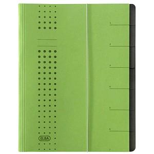 5 ELBA Ordnungsmappen chic 7 Fächer grün