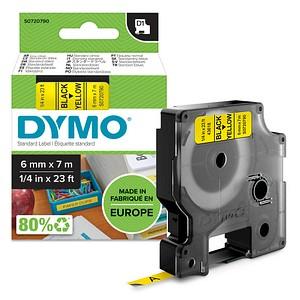 DYMO Beschriftungsband D1 43618 S0720790, 6 mm schwarz auf gelb