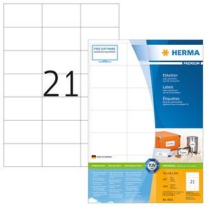 4.200 HERMA Etiketten 4616 weiß 70,0 x 42,3 mm
