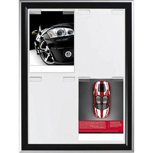 update displays Klapprahmen Double Paperboard schwarz 74,2 x 99,9 cm