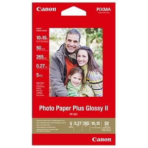 Canon Fotopapier PP-201 10,0 x 15,0 hochglänzend 265 g/qm 50 Blatt
