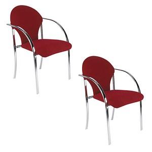 2 NOWY STYL VISA BLACK Besucherstühle rot