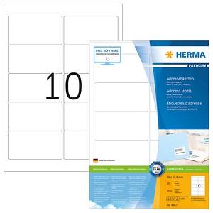 1.000 HERMA Etiketten 4667 weiß