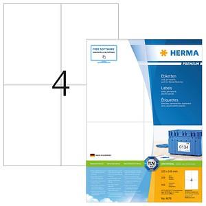 400 HERMA Etiketten 4676 weiß