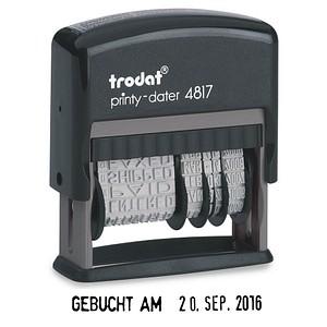 Stempel printy dater 4817 von trodat