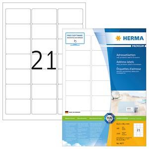 2.100 HERMA Etiketten 4677 weiß