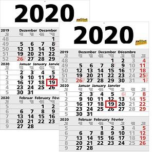 3-Monats-Wandkalender  von office discount
