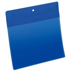 10 DURABLE Magnettaschen blau