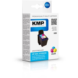 KMP H30 color Tintenpatrone ersetzt HP 22 (C9352A)