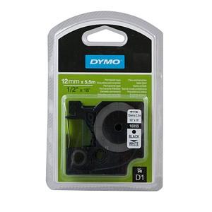 DYMO Beschriftungsband D1 16959 S0718060, 12 mm schwarz auf weiß