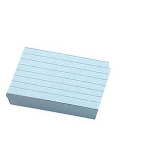 100 Karteikarten DIN A5 blau liniert