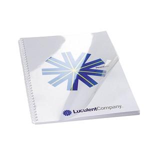 100 GBC Deckblätter für Bindemappen transparent