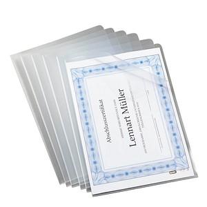 100 OXFORD Sichthüllen transparent genarbt