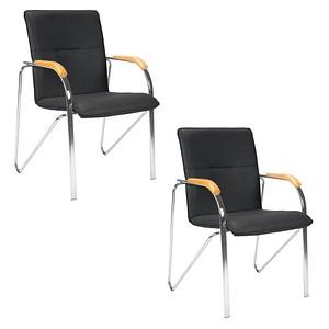 2 NOWY STYL Samba Besucherstühle schwarz Kunstleder