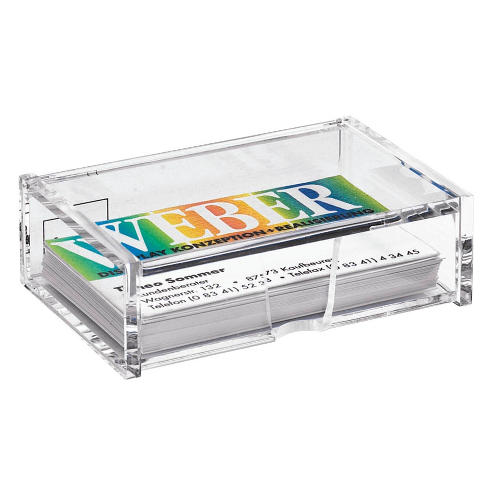 Sigel Visitenkartenbox Glasklar