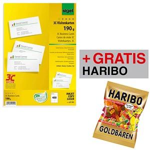 Aktion Sigel Visitenkarten Lp791 Weiß Gratis Haribo Goldbären 200 0 G