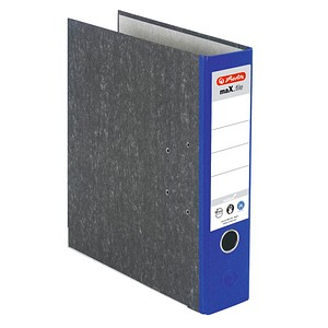 herlitz maX.file nature Ordner blau marmoriert Karton 8,0 cm DIN A4