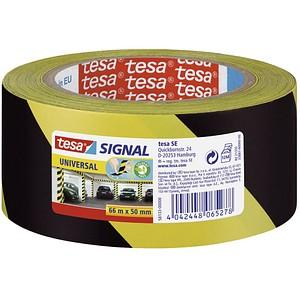 tesa Warnklebeband Signal UNIVERSAL schwarz/gelb 50,0 mm x 66,0 m 1 Rolle