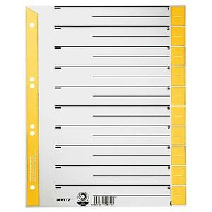 25 LEITZ Trennblätter 1652 gelb