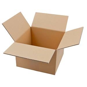 20 Wellpapp-Faltkartons 1-wellig 23,5 x 23,5 x 16,7 cm