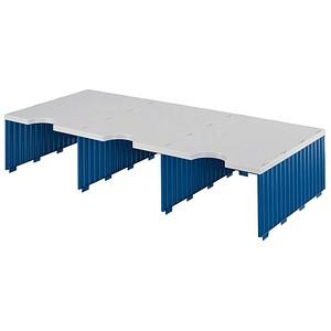 styro Sortierstation Styrodoc Jumbo Aufbaueinheit grau/blau mit 3 Fächern