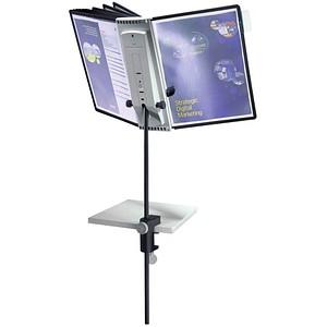 DURABLE Sichttafelsystem SHERPA® Display System desk clamp 10 DIN A4 schwarz mit 10 St. Sichttafeln