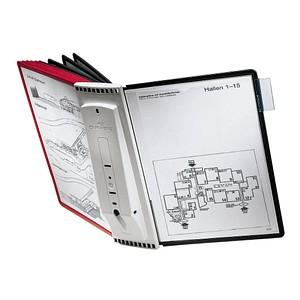DURABLE Wand-Sichttafelsystem SHERPA® WALL 10  DIN A4 farbsortiert mit 10 St. Sichttafeln