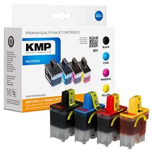 4 KMP B5V schwarz, cyan, magenta, gelb Tintenpatronen ersetzen brother LC900VALBP