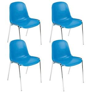 4 NOWY STYL Beta Besucherstühle blau günstig online kaufen