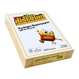 office discount Kopierpapier Color canariengelb DIN A4 160 g/qm 250 Blatt