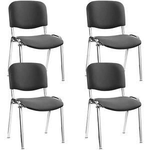 4 NOWY STYL Iso Besucherstühle anthrazit günstig online