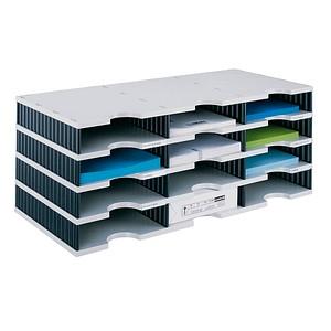 styro Sortierstation Styrodoc grau/schwarz mit 12 Fächern