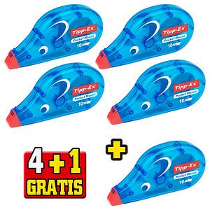 4+1 GRATIS: 4 Tipp-Ex Korrekturroller Pocket Mouse 4,2 mm + GRATIS 1 Korrekturroller