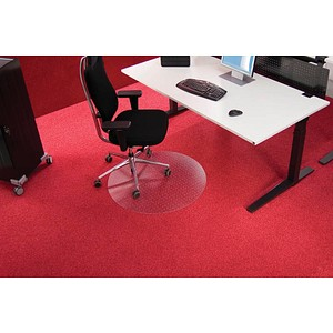 Roll-o-Grip Bodenschutzmatte für Teppichböden rund, 90,0 x 90,0 cm
