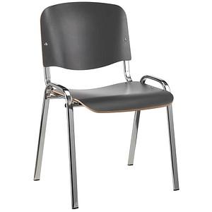 4 NOWY STYL Iso Wood Besucherstühle anthrazit