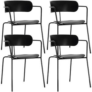 4 PAPERFLOW BISTRO Besucherstühle schwarz günstig online