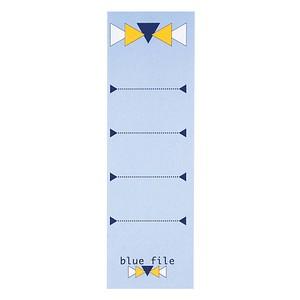 10 bluefile Ordneretiketten blue file blau für 8,0 cm Rückenbreite