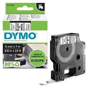 DYMO Beschriftungsband D1 41913 S0720680, 9 mm schwarz auf weiß