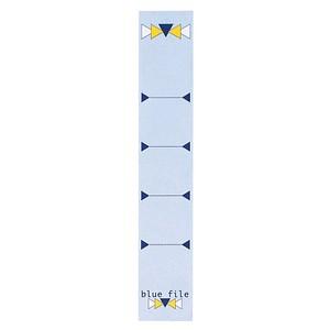10 bluefile Ordneretiketten blue file blau für 5,0 cm Rückenbreite