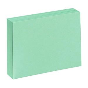 100 Karteikarten DIN A7 grün blanko