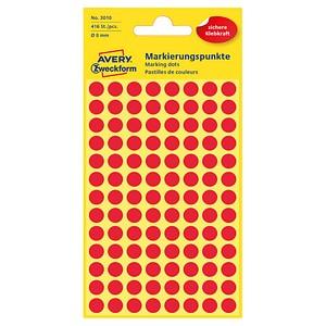 AVERY Zweckform Klebepunkte 3010 rot Ø 8,0 mm