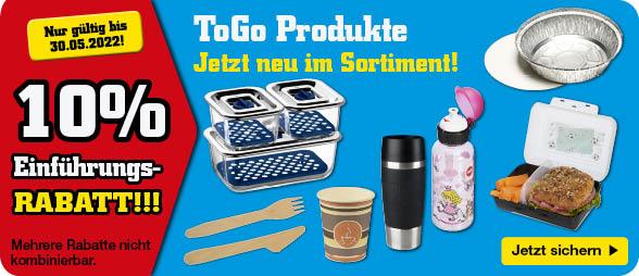 10% Rabatt auf ToGo-Produkte