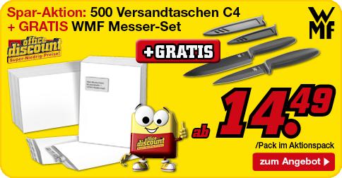 Versandtaschen + Messer-Set
